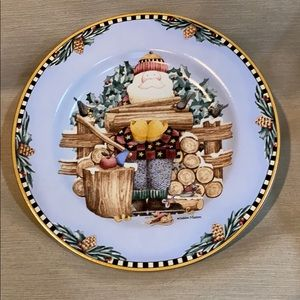 Woodland Santa Decorative Plate by Sakura 1998